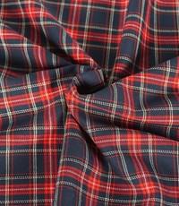 Schotse ruit zwart rood