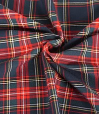 Schotse ruit groen rood