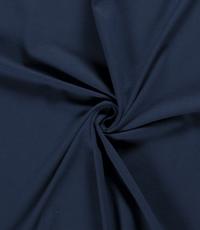 Katoenen tricot zware kwaliteit donker jeans blauw
