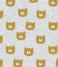 Alpensweat grijs met gele beer