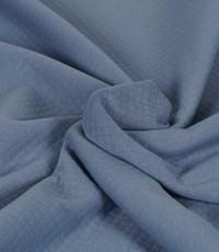 Dubbeldoek doorgestikt jeansblauw