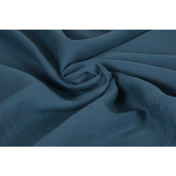 Linnen stof jeansblauw