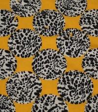 Polystretch cirkels geel