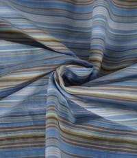 Streepjes stof lichtblauw