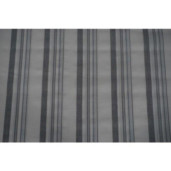 Streepjes stof  ecru met grijs