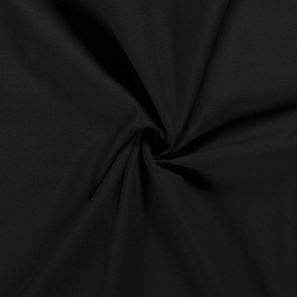Keperkatoen Stof Uni Zwart