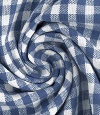 Geruit stof middelgrote ruit  jeanskleur