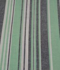 Halflinnen stof gestreept groen