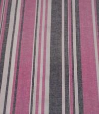 Halflinnen stof gestreept roze