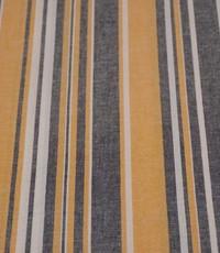 Halflinnen stof gestreept geel