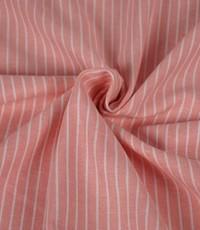 Halflinnen dun gestreept roze