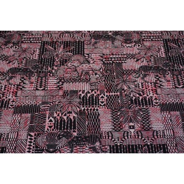 Tricot met Inka print roze