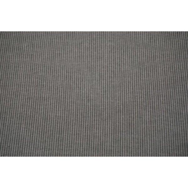 Halflinnen stof met krijtstreep grijs
