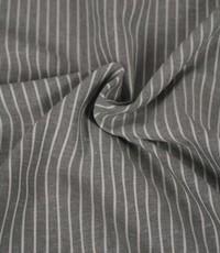 Halflinnen streep grijs