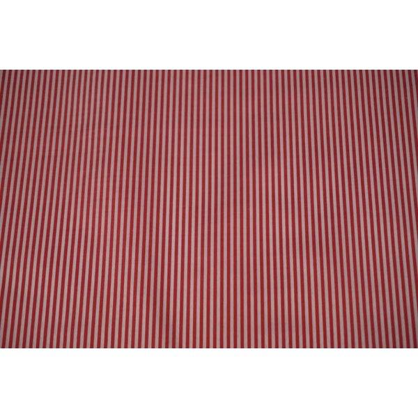 Gestreept stof rood-wit