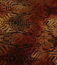Jersey met bladpatroon okergeel
