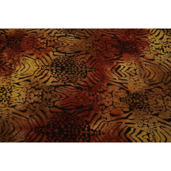 Jersey met opgelegd patroon okergeel