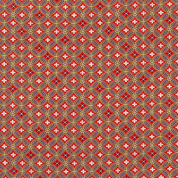 Popeline stof met abstracte print brique