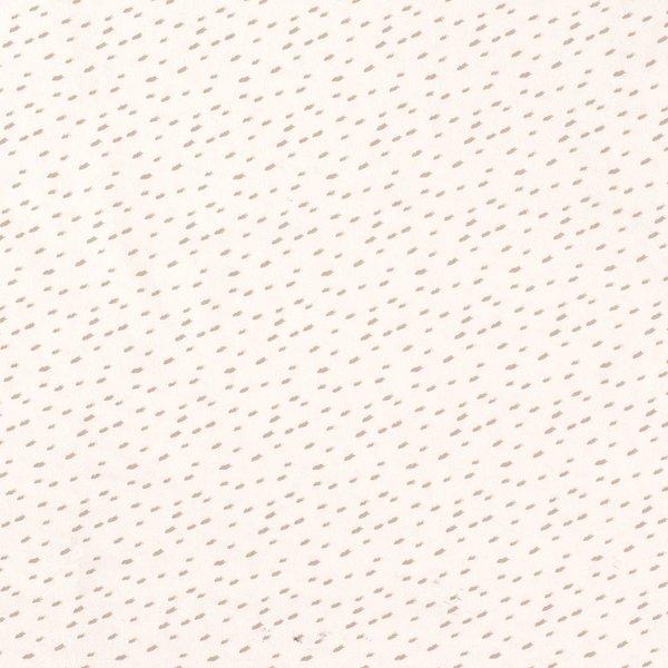 Tricot stof ecru met dessin  bruine veegjes