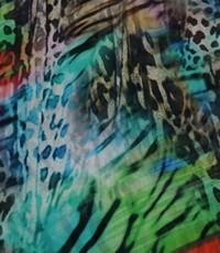 Chiffon multicolor dierenprint