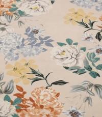 Tricot beige met bloemen