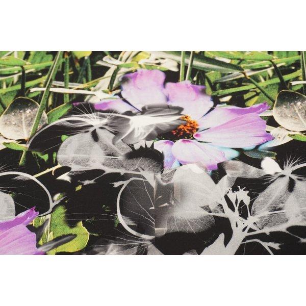 Tricot stof met een groot bloemenpatroon
