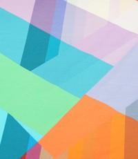 Tricot met geometrische vormen