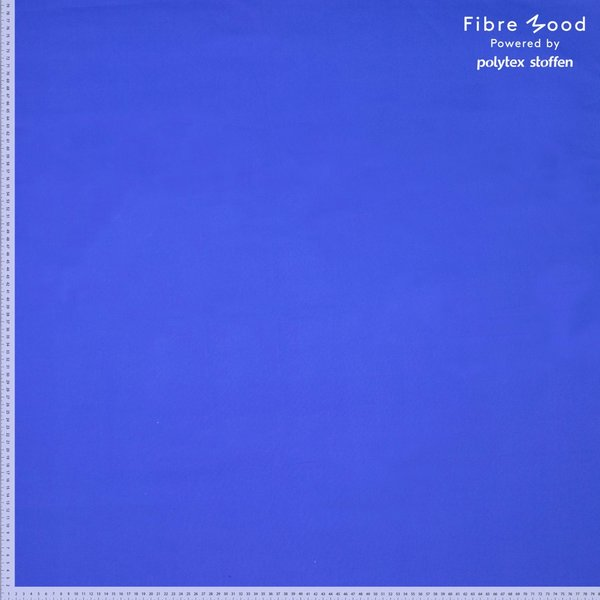 Popeline in uni kobaltblauw