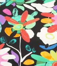 Tricot met kleurrijke bloemen