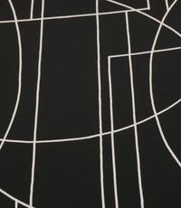 Zwarte Tricot met witte lijntjes
