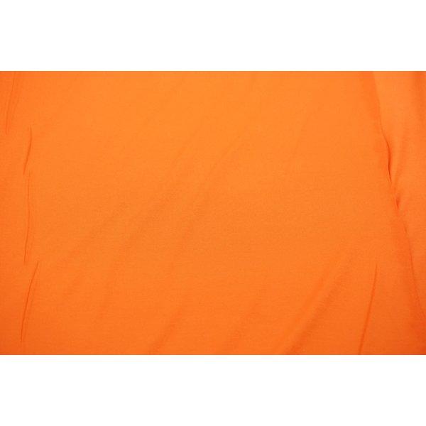 Viscose tricot stof effen oranje