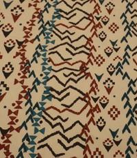 Stretch katoen met inca-vormen