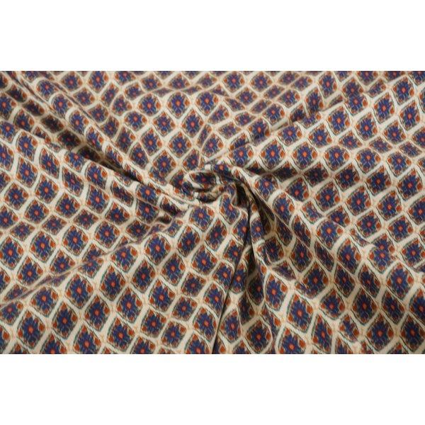 Stretch katoen stof met wyberpatroon