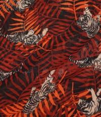 Chiffon met print van tijgers