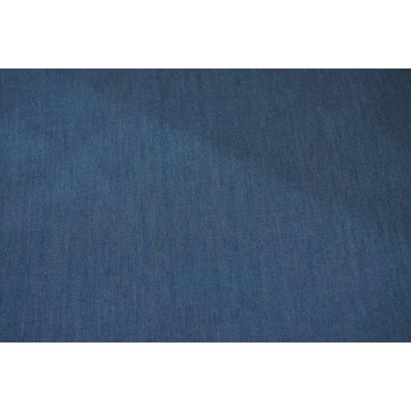 Chambray stof middenblauw