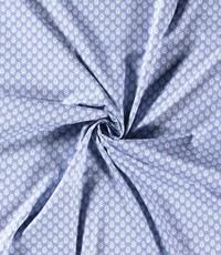 Popeline lichtblauw met fantasiedruppel