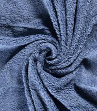 Katoenen Teddy Jeansblauw