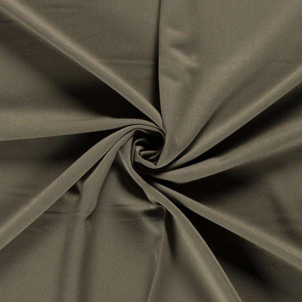 Gabardine stof met stretch olijfgroen
