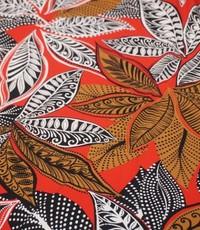 Tricot met Afrikaanse print rood