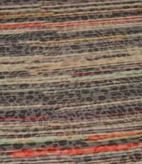 Tricot met streep en ingeweven dierenprint