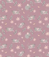 Tricot met muisjes oud roze
