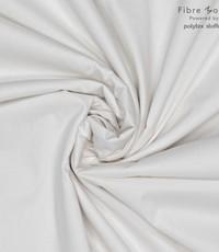 Stretch popeline gebroken wit