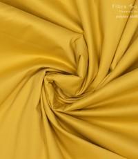 Stretch popeline geel