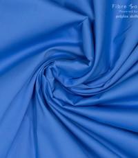 Stretch popeline felblauw