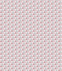Katoen met mini driehoekjes roze