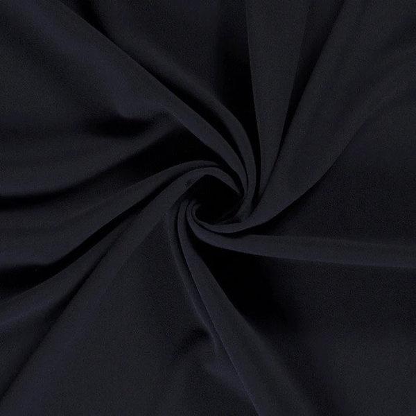 Scuba crepe stof donkerblauw