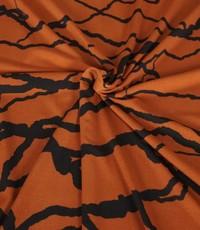 Poly tricot brique met dikke strepen