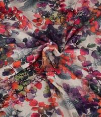 Tricot linnenmix hortensia