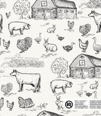 Tricot met boerderijdieren