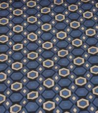 Tricot 6-kant blauw